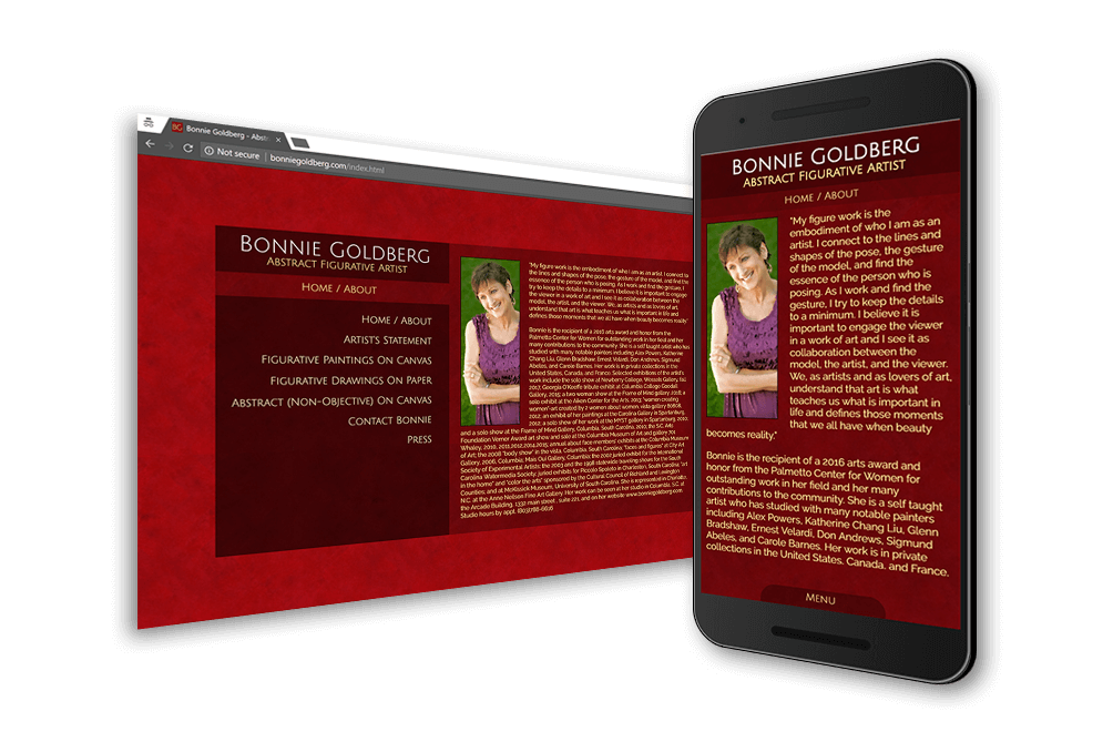 Bonnie Goldberg Art Web Site
