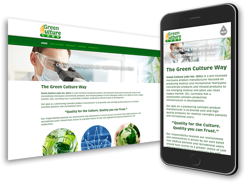 Green Culture Labs Web Site