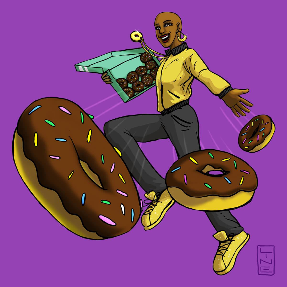 Mona Holmes the Doughnut Hero